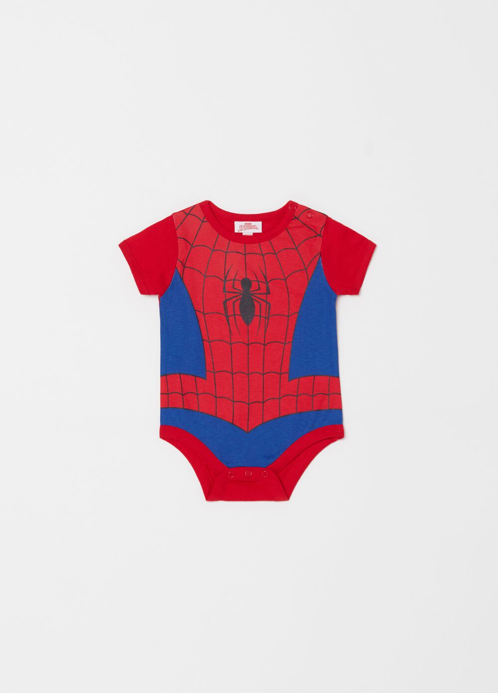 100% cotton bodysuit with Spider-Man pattern