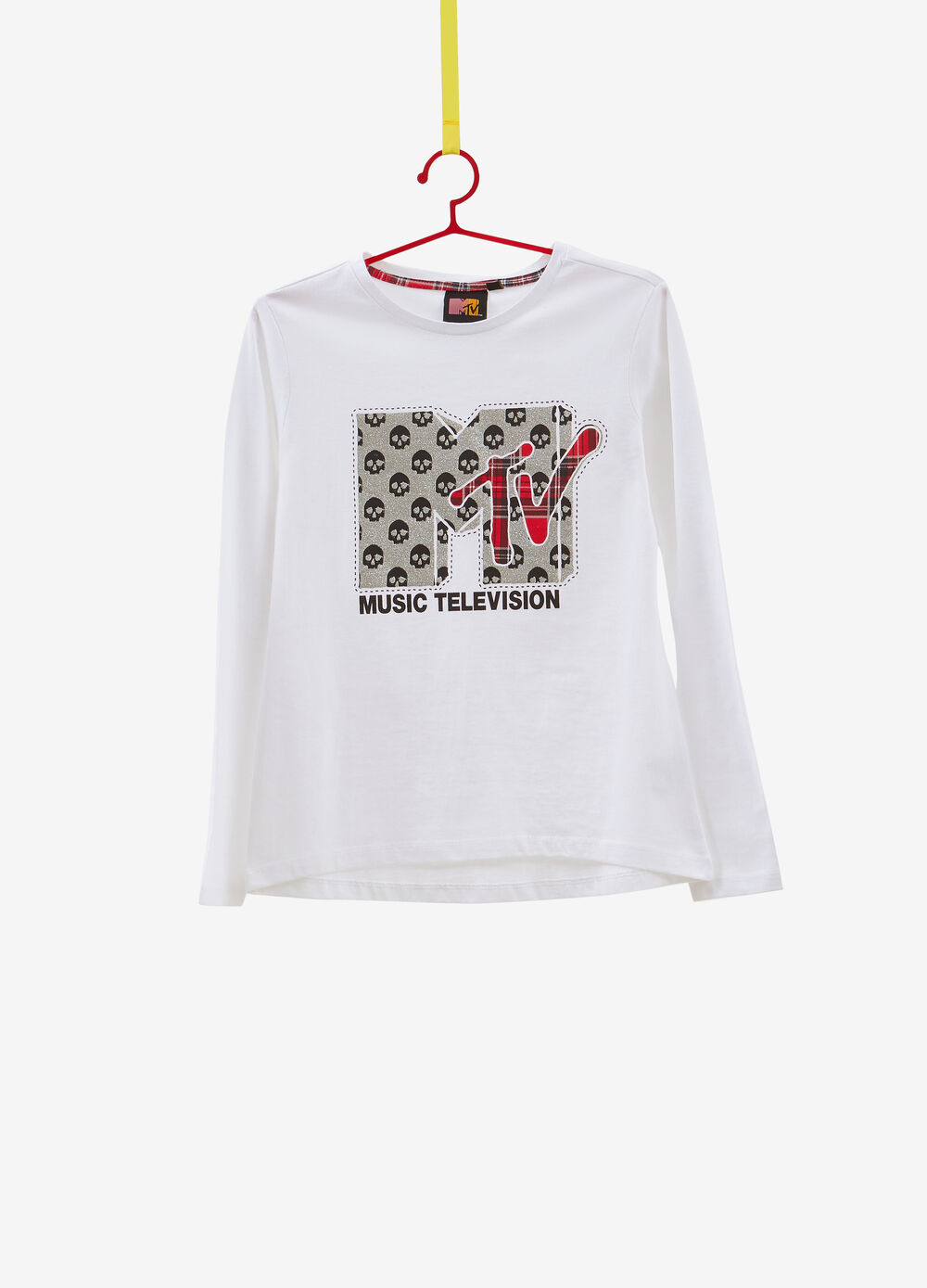 100% cotton T-shirt with MTV glitter print