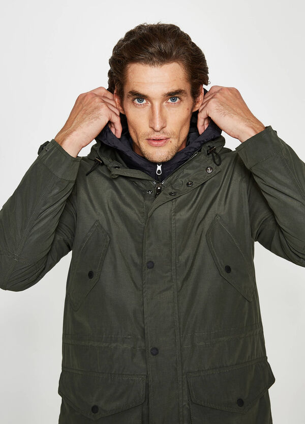 Rumford cotton blend parka with hood | OVS