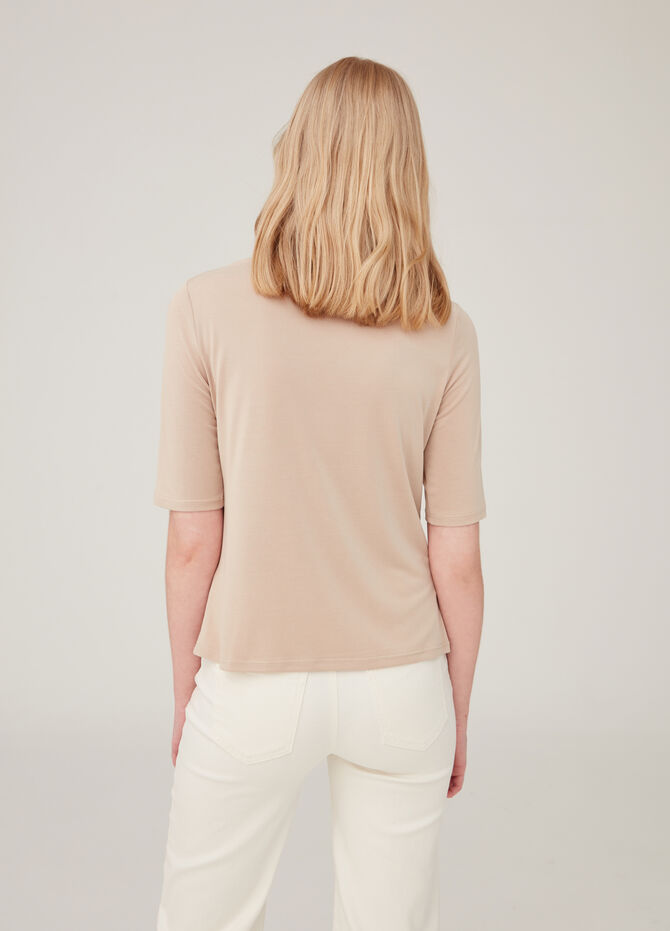 Modal blend T-shirt with boat neck