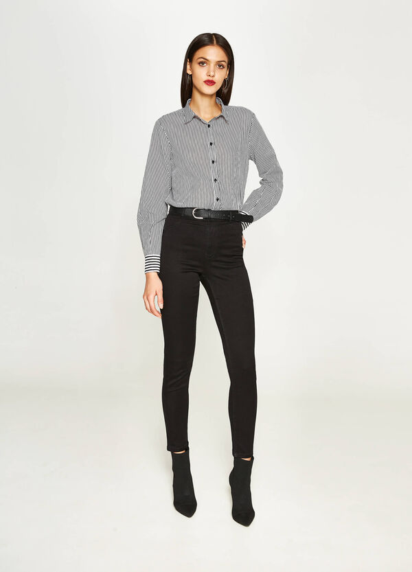 Jeans super skinny fit stretch a vita alta