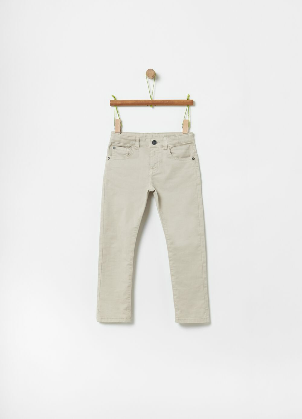 100% organic cotton trousers with five pockets