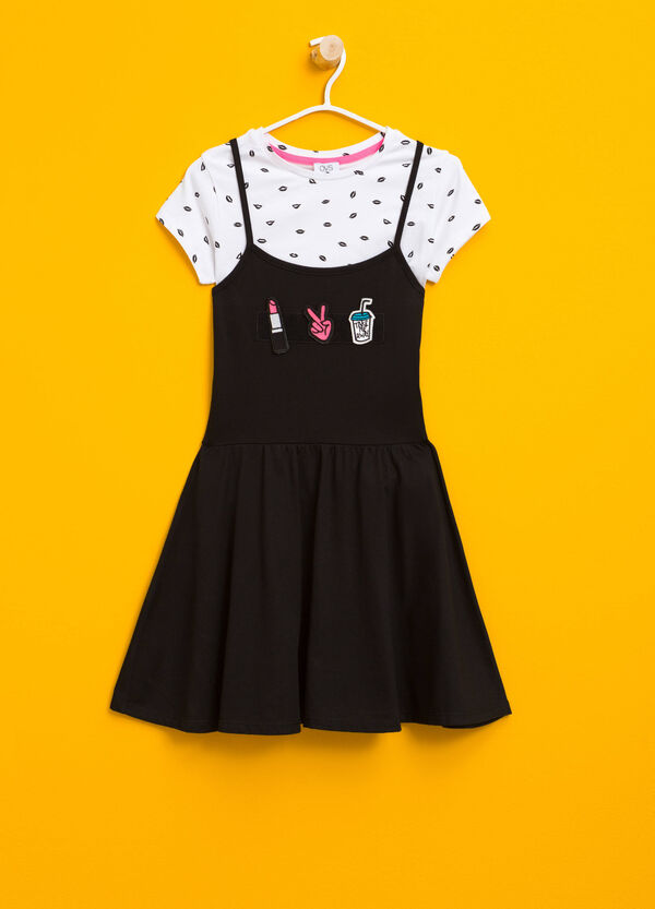 Cotton T-shirt and dress outfit | OVS
