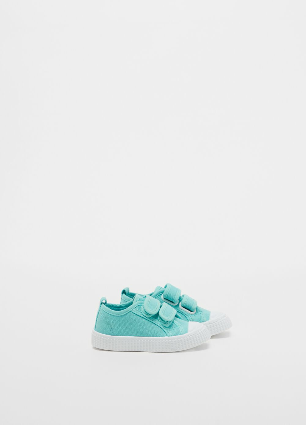 Cotton sneakers with stretch Velcro