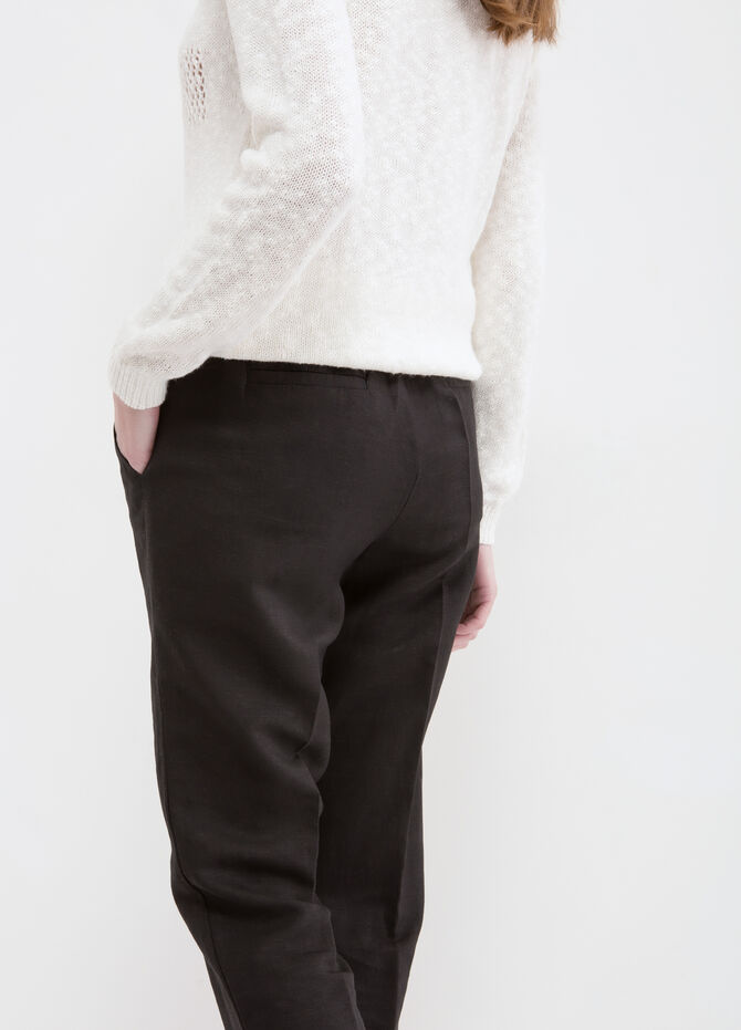 Capri pants in linen blend