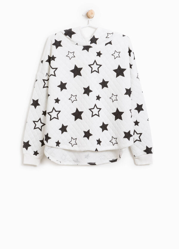 Quilted sweatshirt with star pattern | OVS