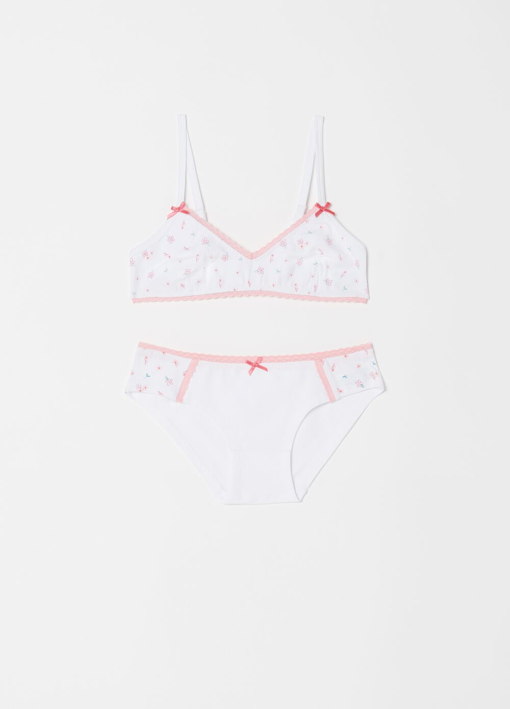 Biocotton outfit with bra and briefs