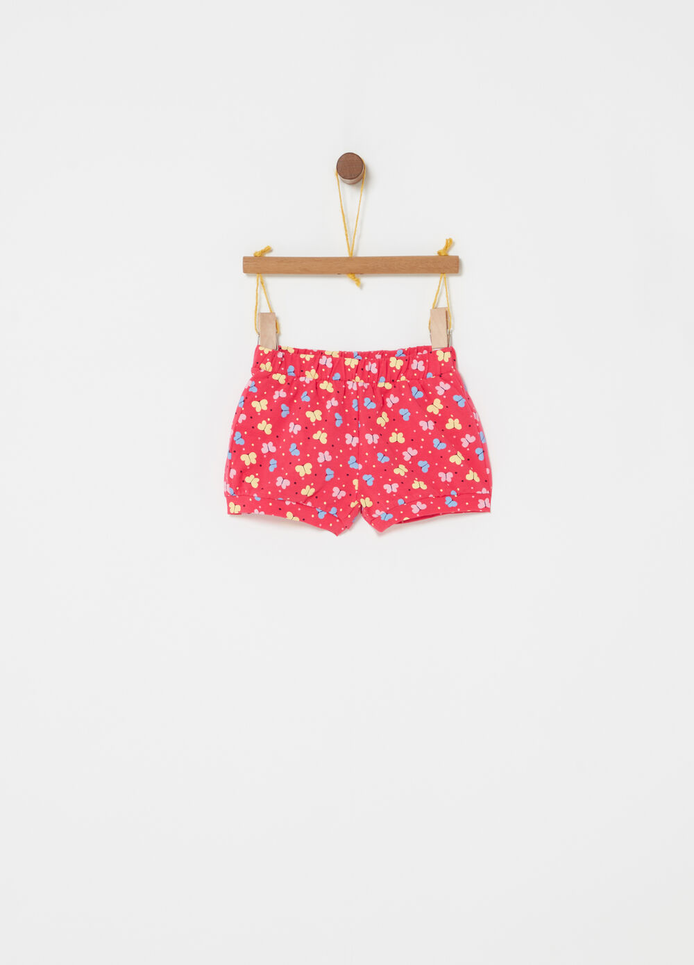 Stretch shorts with print