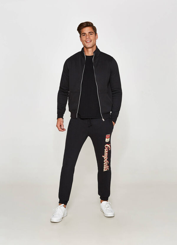 Stretch joggers with Campbell's print