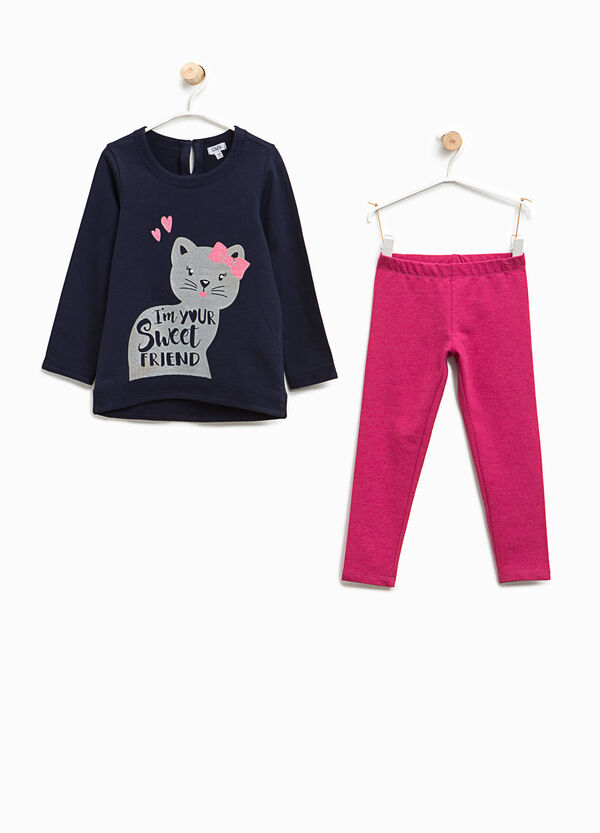 Cotton outfit with cat print | OVS