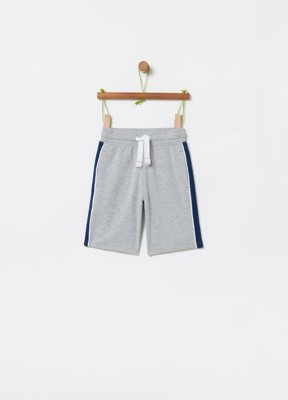 French terry mélange Bermuda shorts