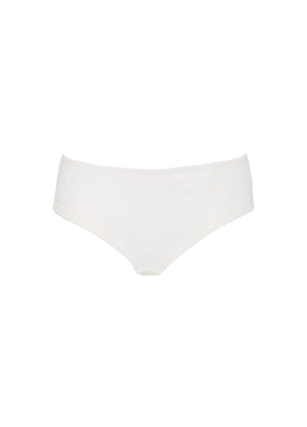 Stretch microfibre briefs with lace | OVS