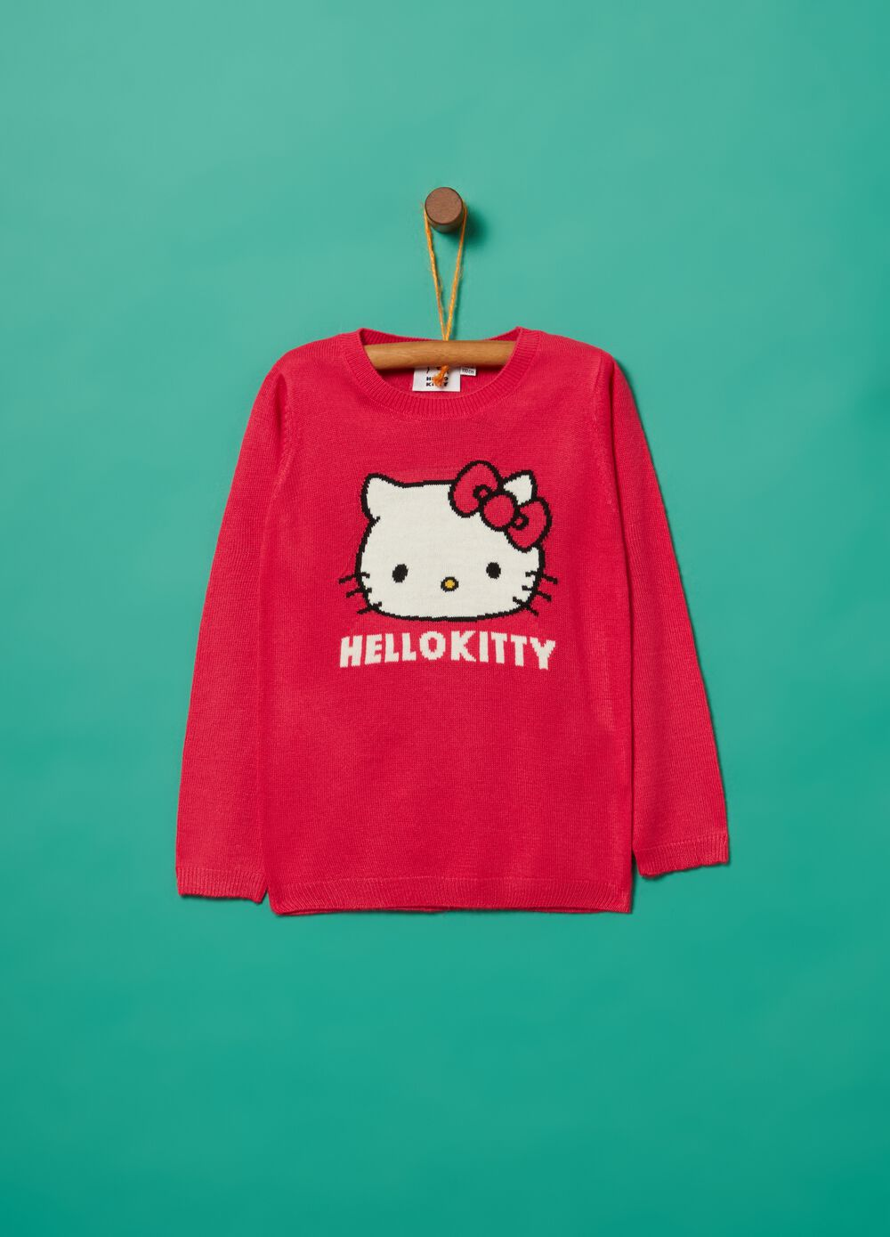 Knitted top with Hello Kitty embroidery