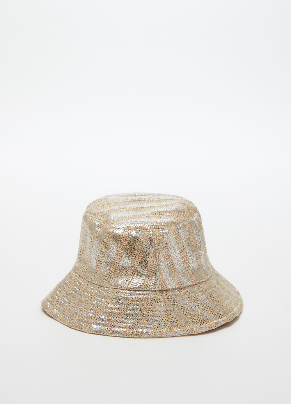 Laminated-effect cotton bucket hat