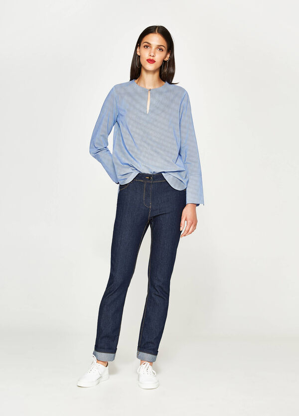 Cotton blouse with opening | OVS