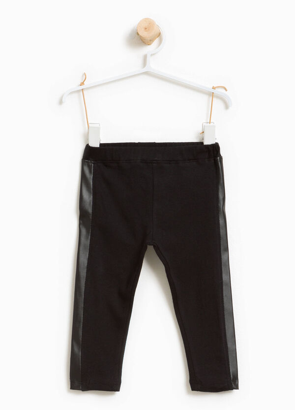 Stretch cotton trousers with side inserts | OVS