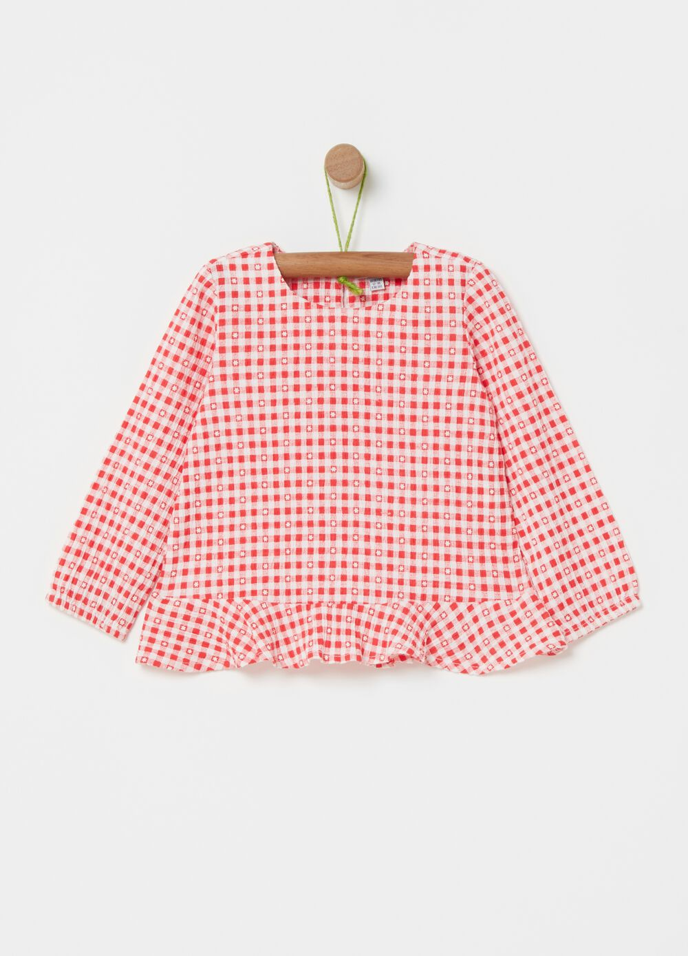Shirt with Vichy pattern