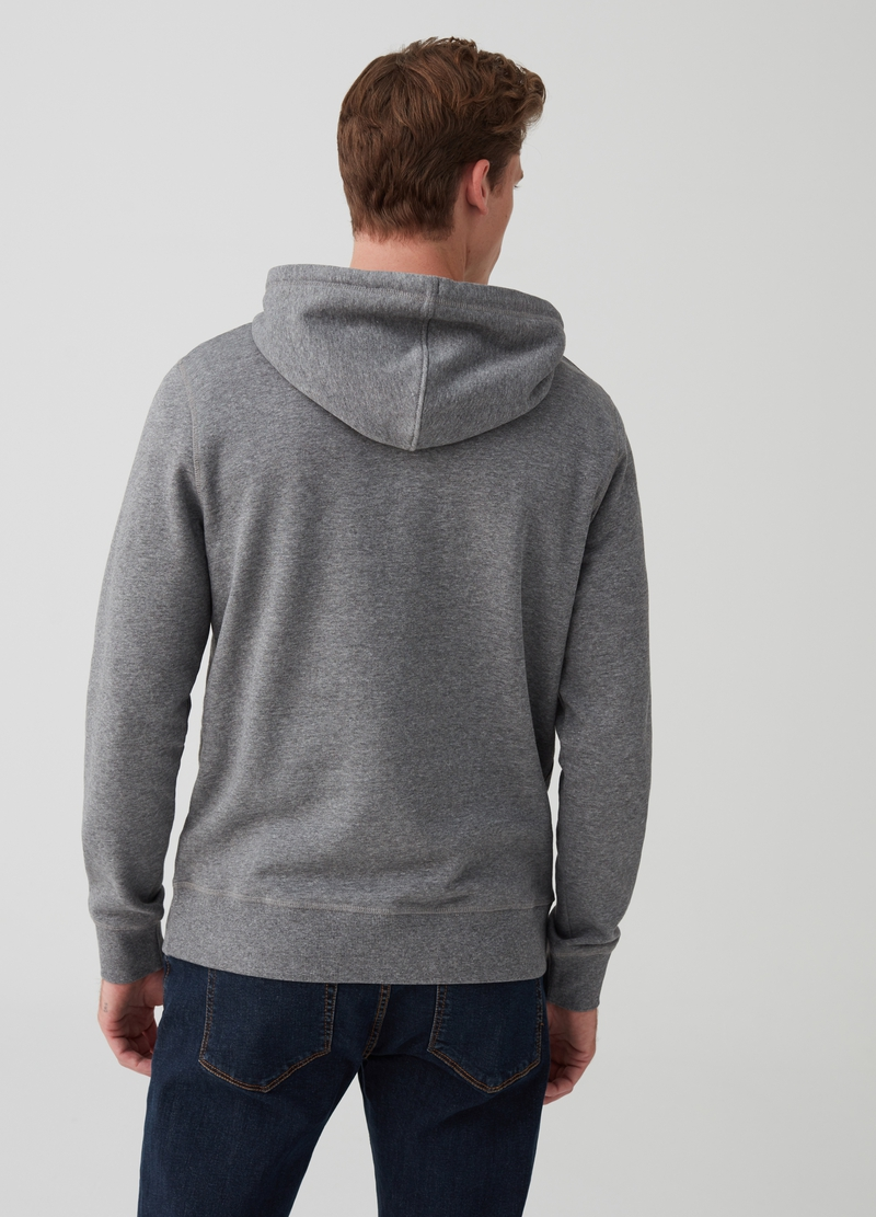 Mélange sweatshirt with pouch pocket image number null