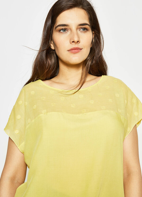 Curvy blouse with speckled weave   OVS