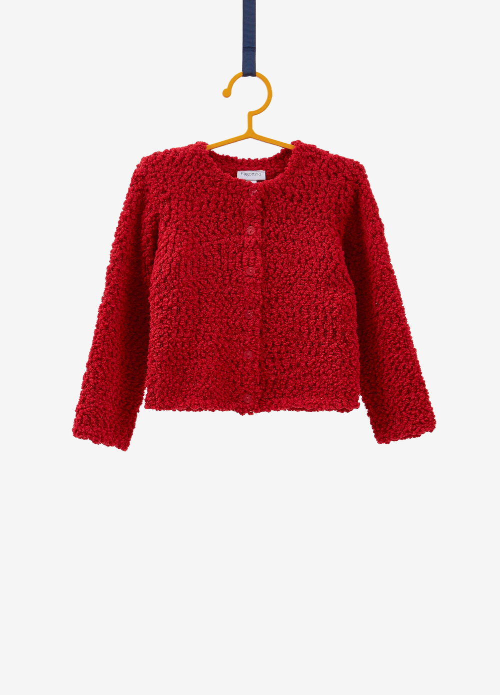 Solid colour knit cardigan with lurex