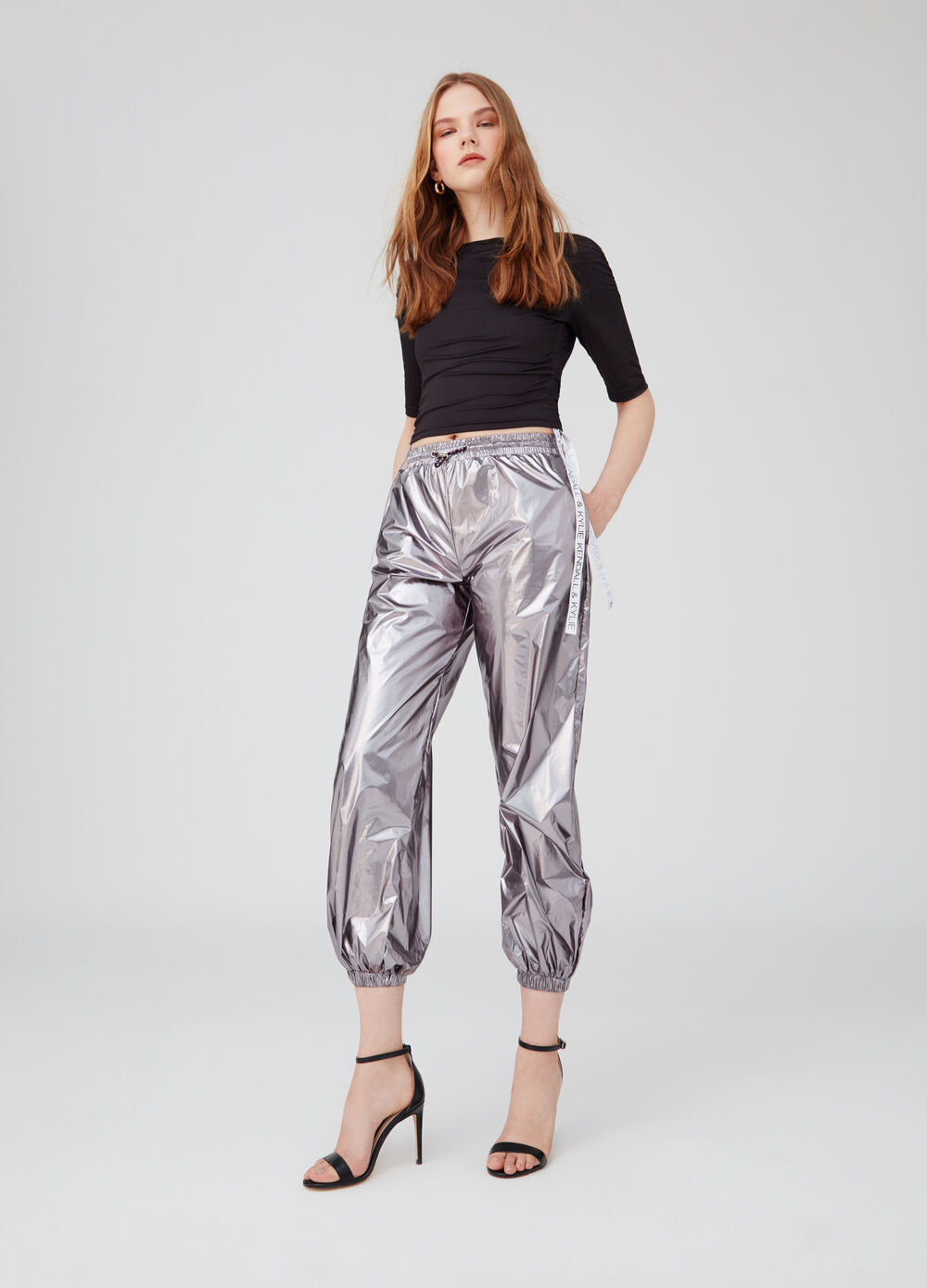 K+K for OVS cropped trousers with drawstring