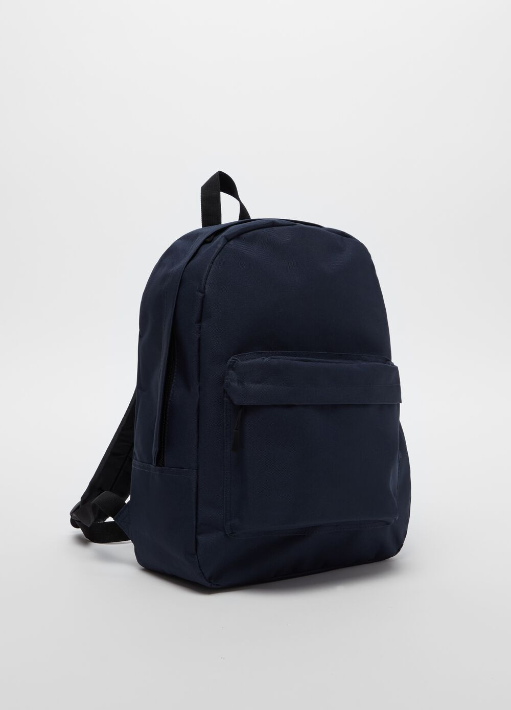 Solid colour backpack with pocket