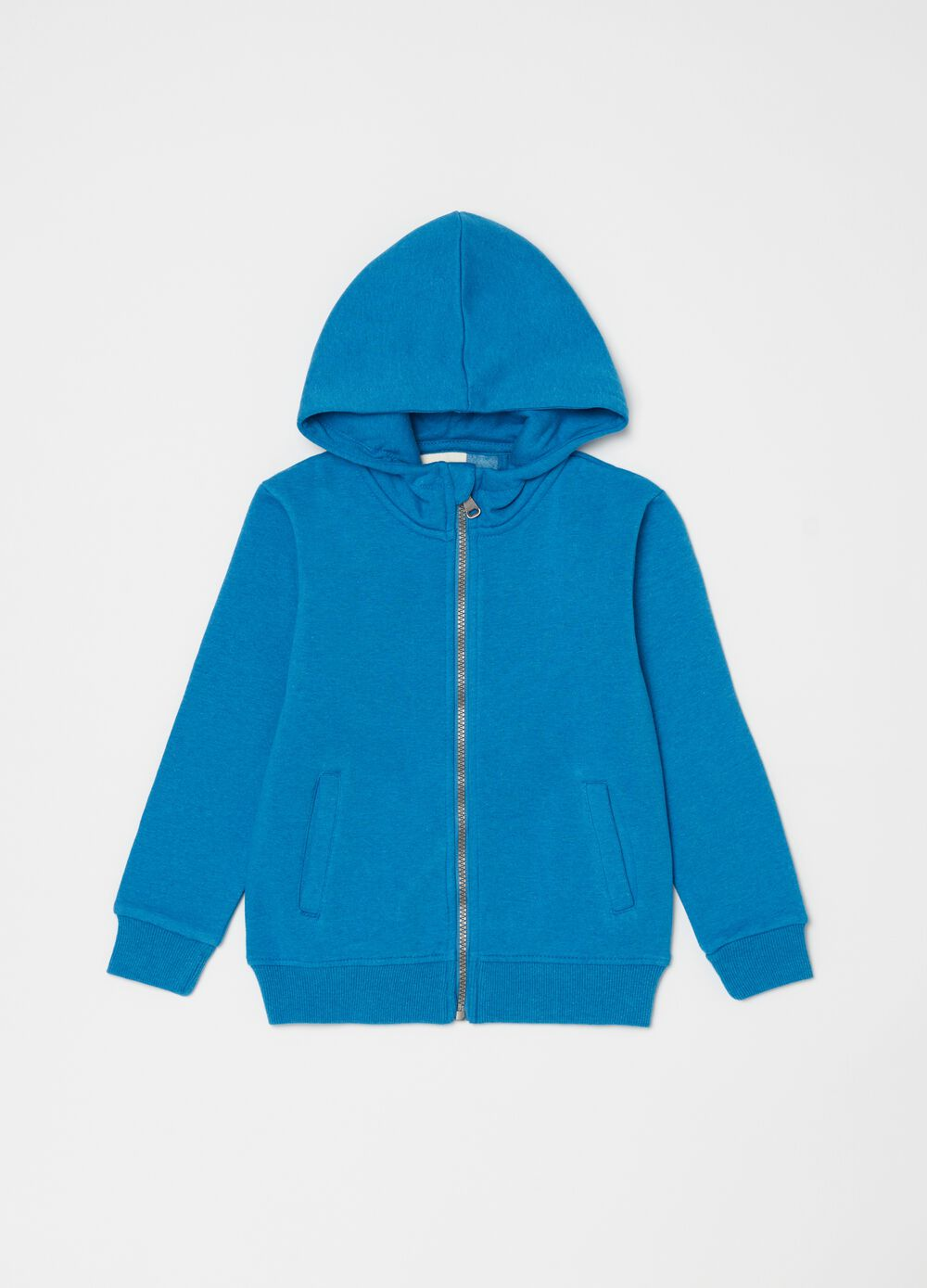 Full-zip sweatshirt with hood