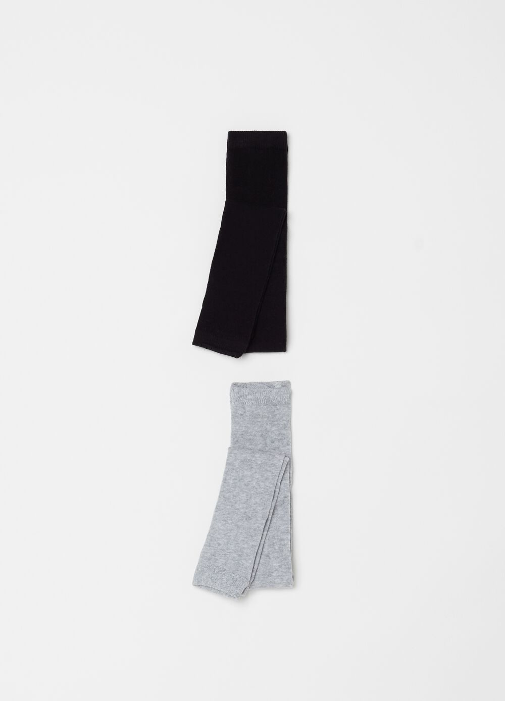 Two-pack stretch footless tights