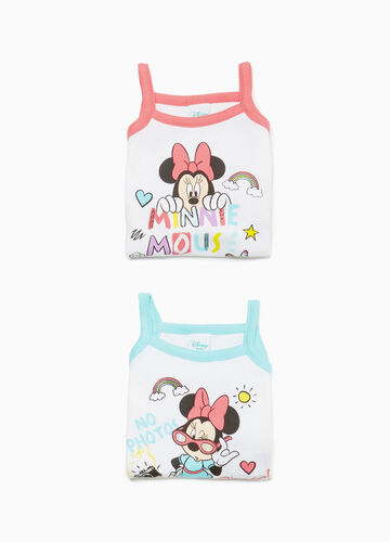 Two-pack sleeveless Minnie Mouse bodysuits