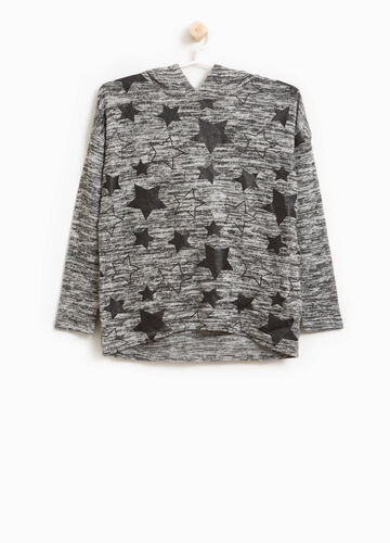 Stretch pullover with star pattern