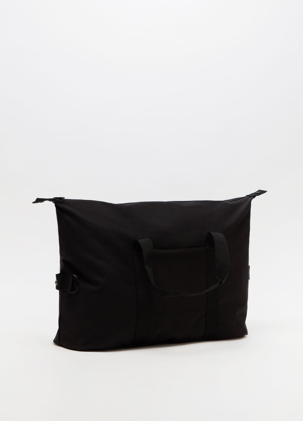 Cotton shoulder bag with patch pocket