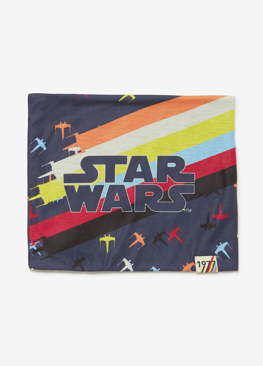 Neck scarf with Star Wars pattern