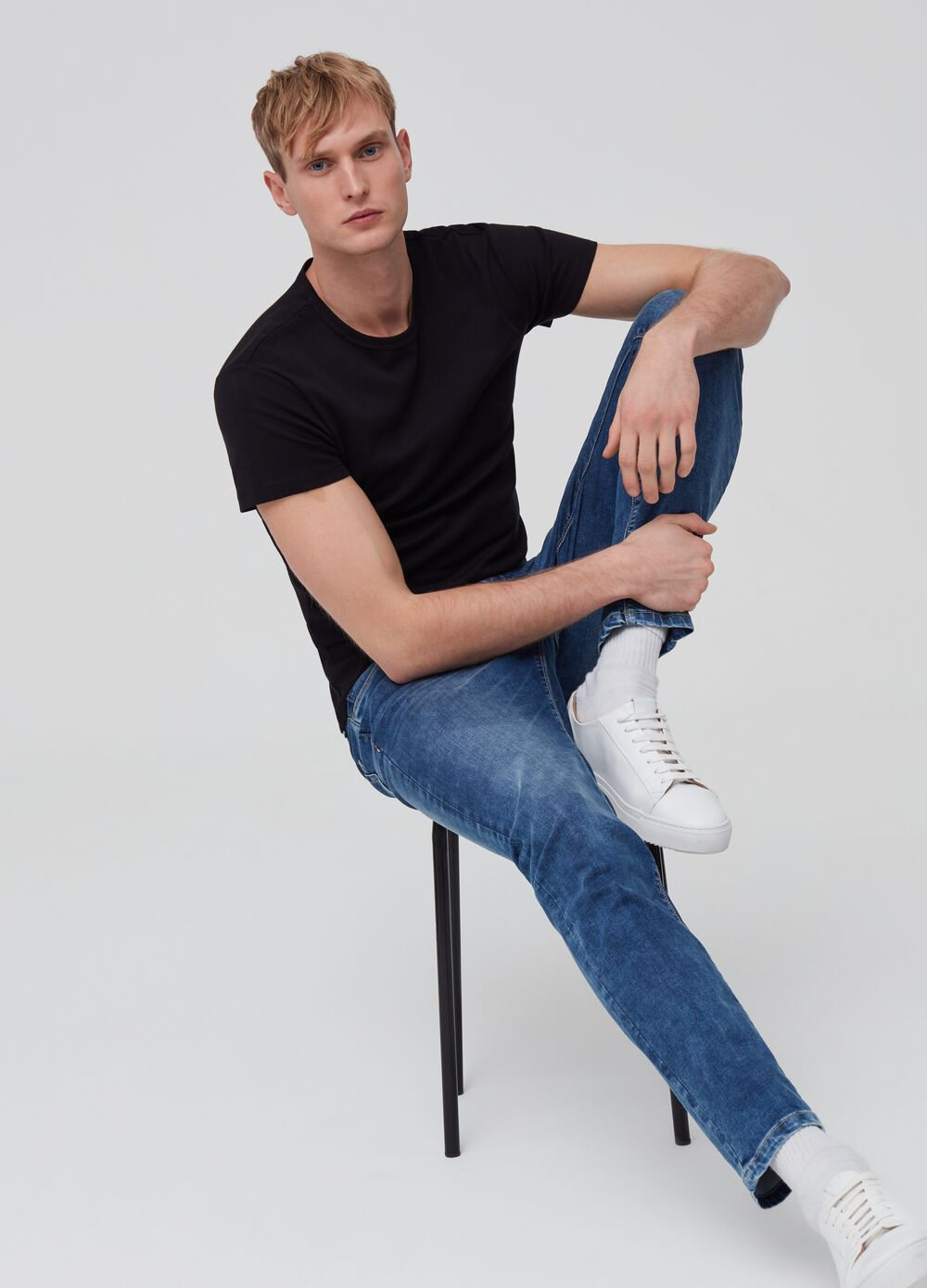 Skinny-fit stretch jeans with five pockets