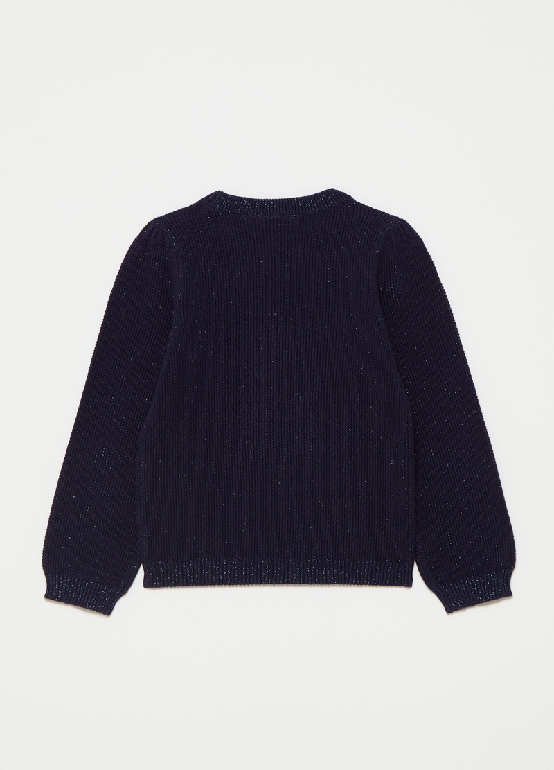 Pullover with round neck and lurex image number null