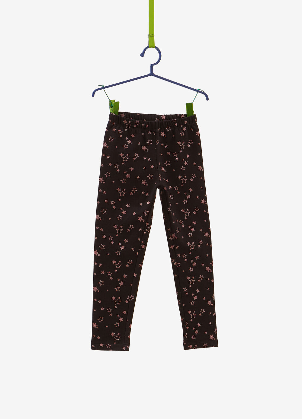 Stretch leggings with star pattern