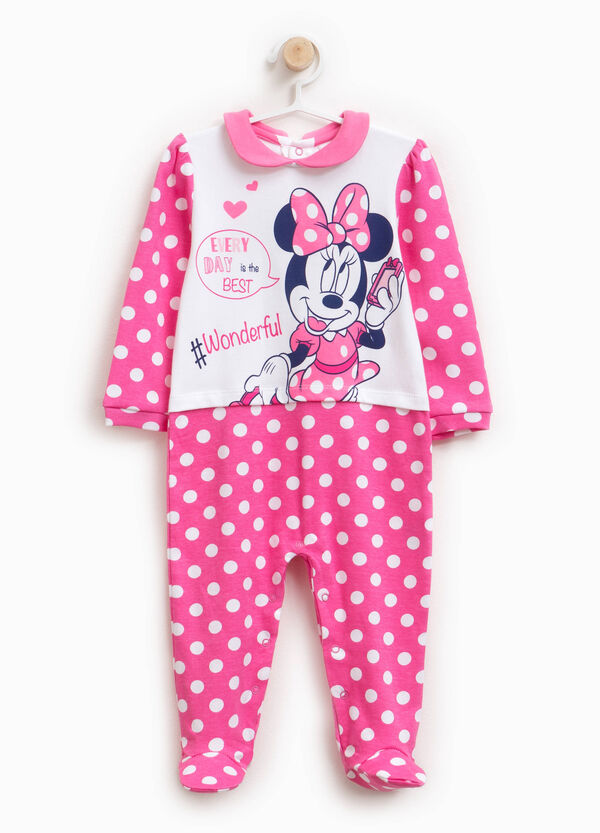 Onesie with feet and Minnie Mouse polka dot design | OVS