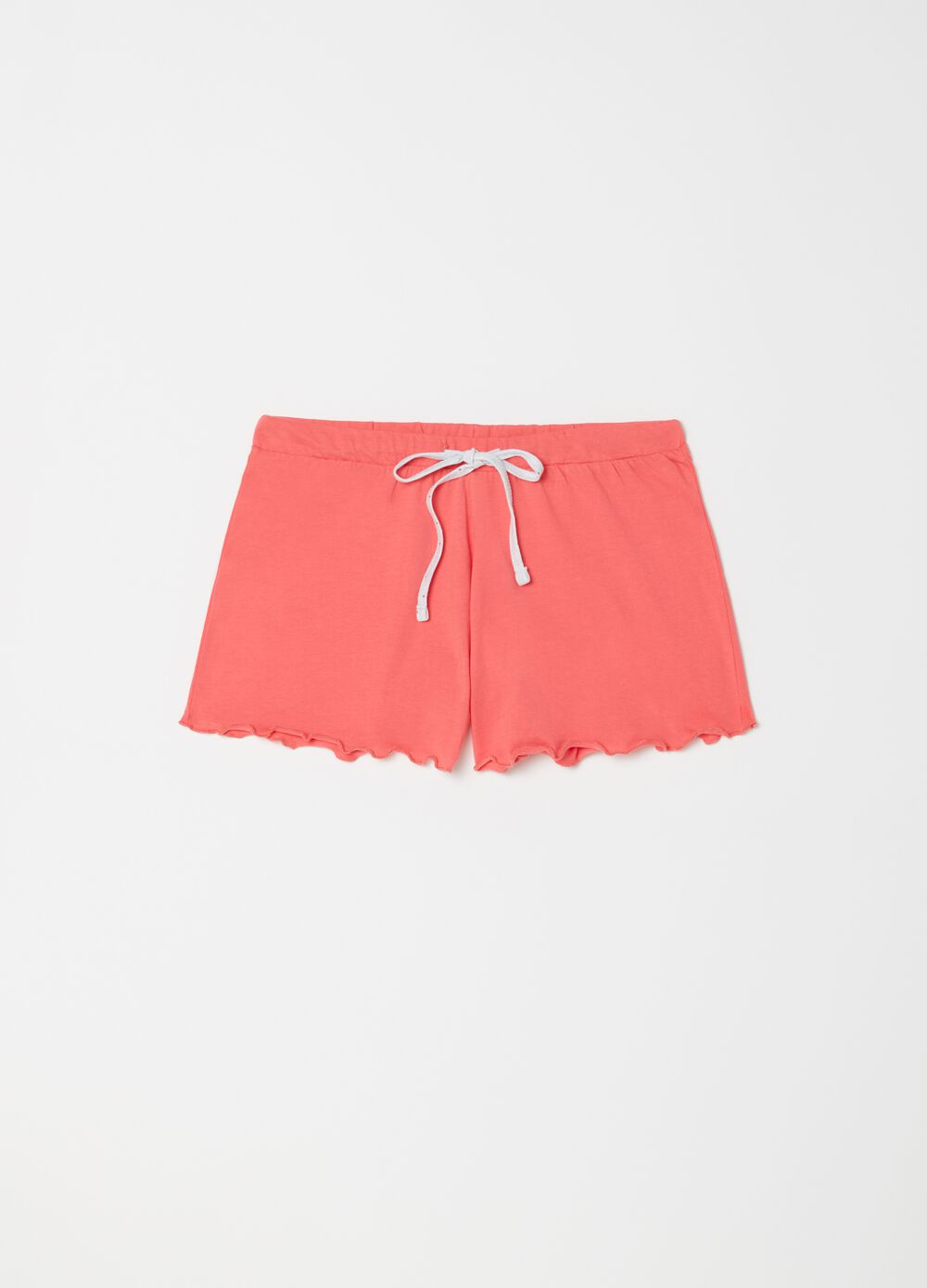 Shorts pigiama con coulisse a contrasto