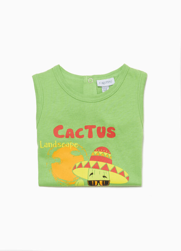 Cactus patterned cotton sleep suit