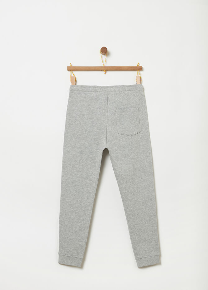 Regular-fit trousers with drawstring waist