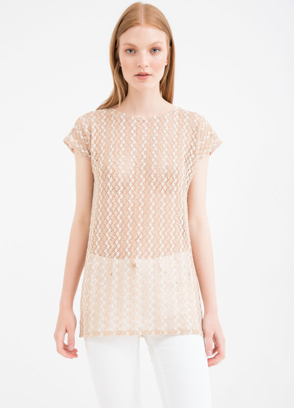 T-shirt with contrasting pattern   OVS