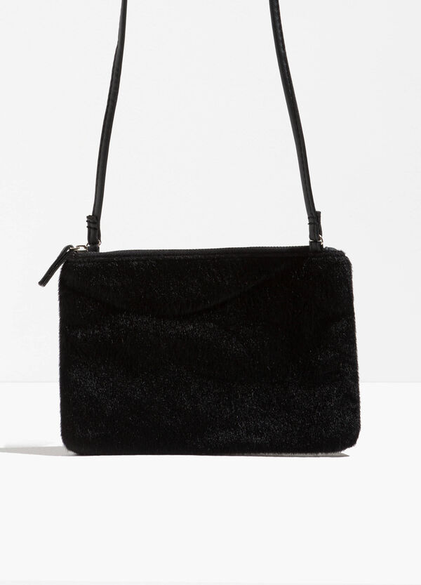 Faux fur shoulder bag | OVS
