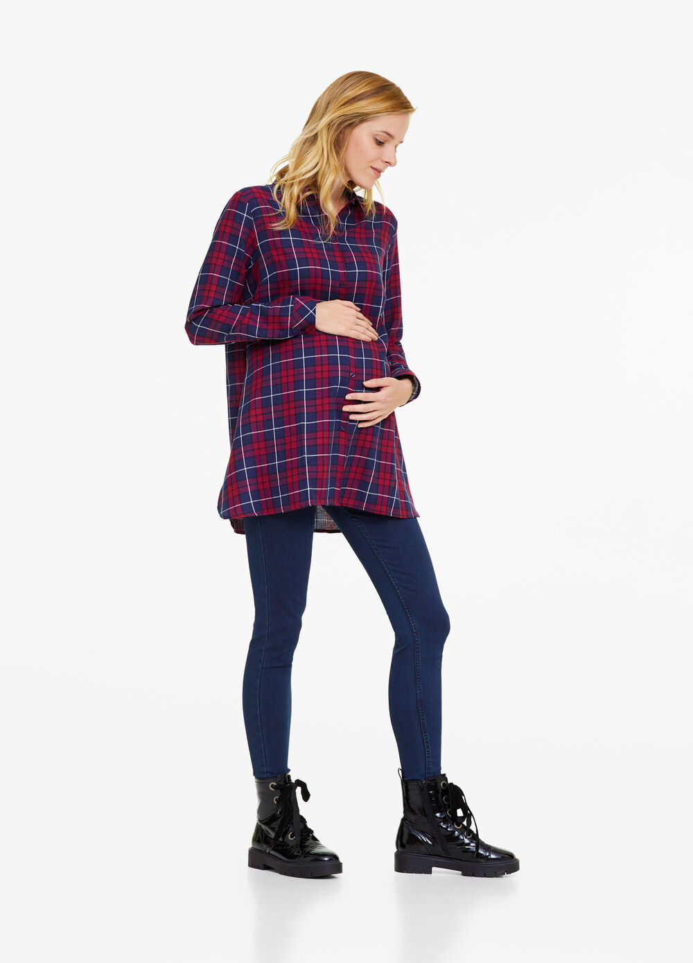MUM 100% cotton shirt with check pattern