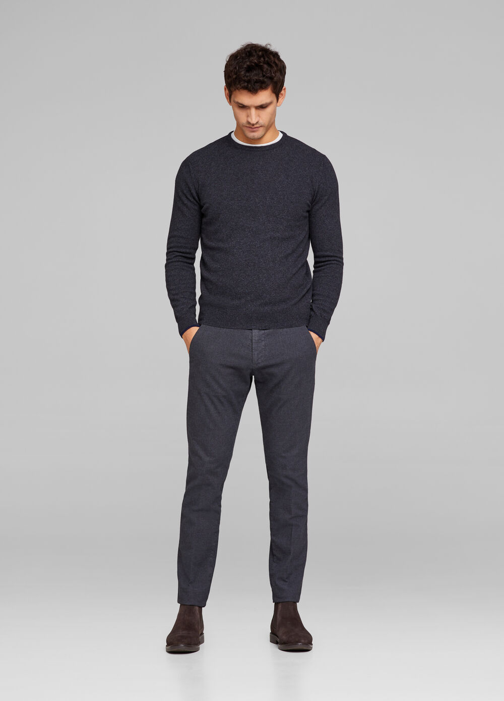 Rumford viscose and cotton trousers