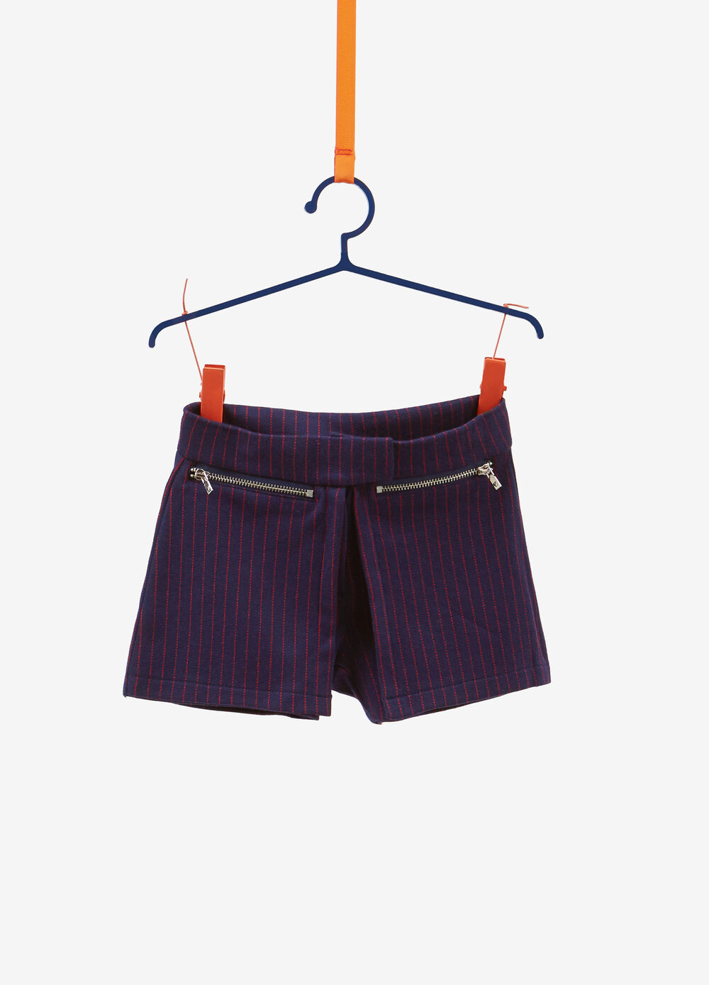 Stretch striped shorts with pockets