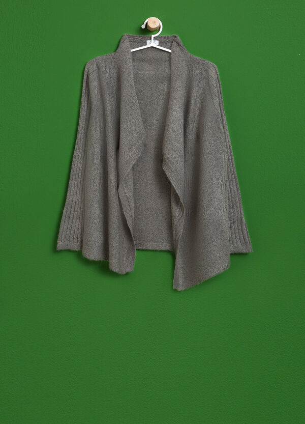 Viscose cardigan with shawl neck | OVS