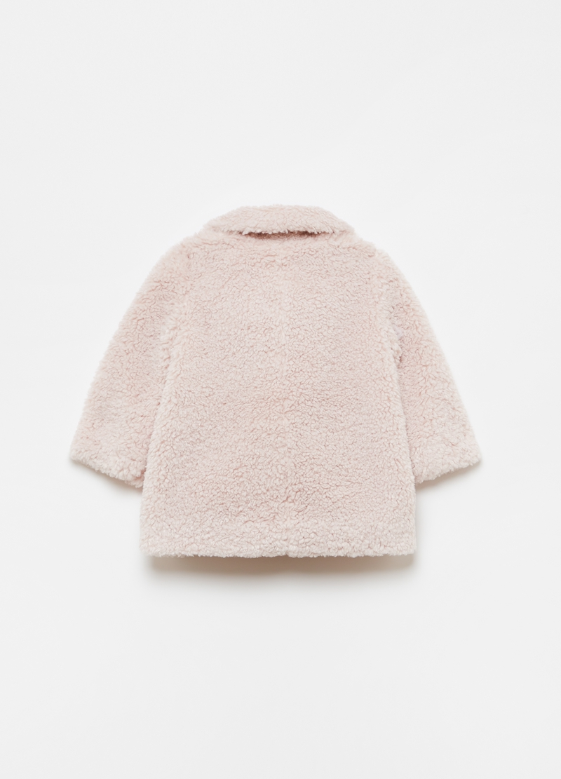 Faux fur coat with pockets image number null