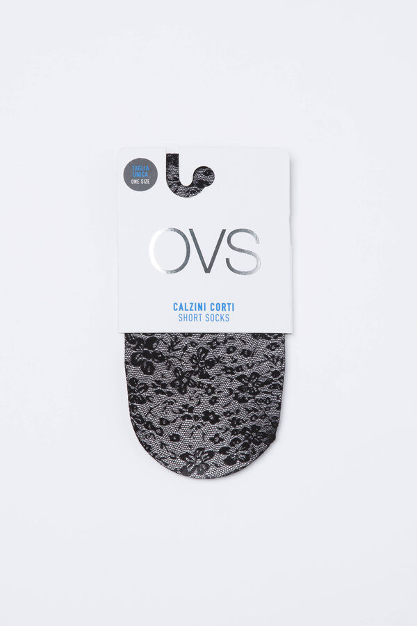 Short stretch jacquard pop socks | OVS