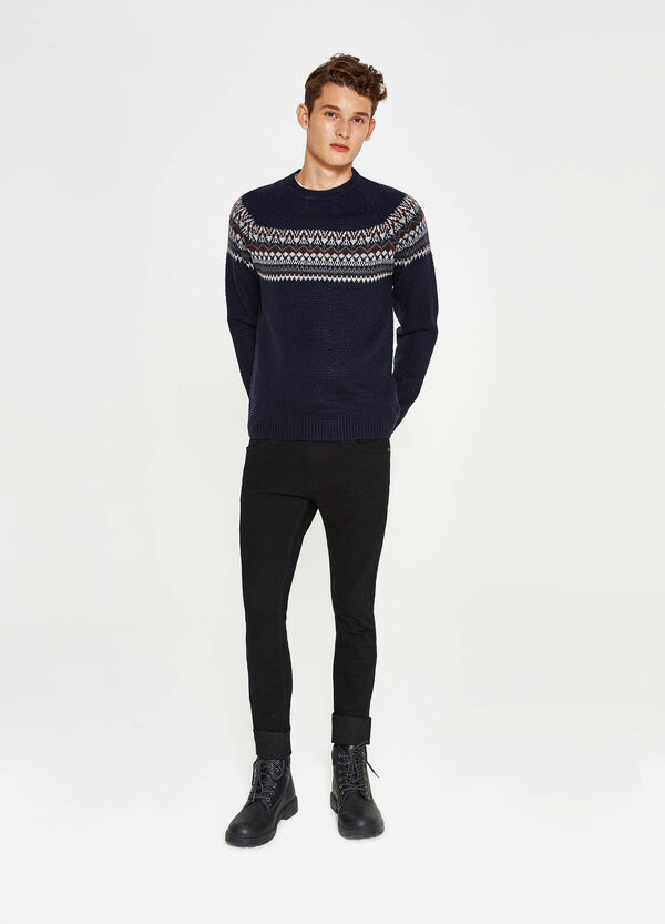 Knit pullover with embroidery | OVS