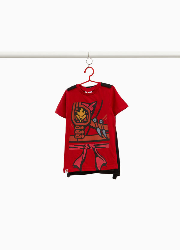 Lego print T-shirt with cape in 100% cotton