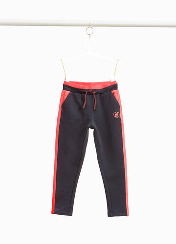 Joggers with openwork bands